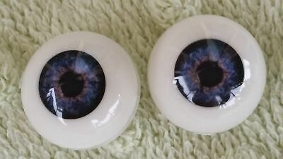 Reborn Baby Round Acrylic Eyes 14mm Deep Blue Doll Making Supplies