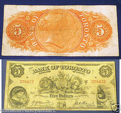 Canada Chartered Banknote -  1937 $5 Bank Of Toronto