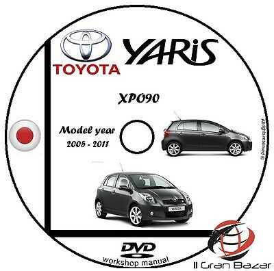 Manuale Officina Toyota Yaris My 2005-2011 Workshop Manual Service Cd Dvd