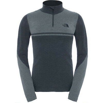 North Face Harpster Quarter Zip Mens Base Layer Top - Tnf Black All Sizes