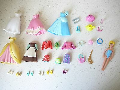 Disney Cinderella Polly Pocket Doll + Clothing + Ball Gowns+ Accesories