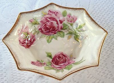 2 Royal Standard 'ORLEANS ROSE' pink roses Sweet Meat Dish  (310)