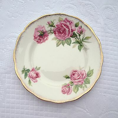 14 Royal Standard 'ORLEANS ROSE' 6 1/4 inch plate Pink Roses/Gold Trim (304)