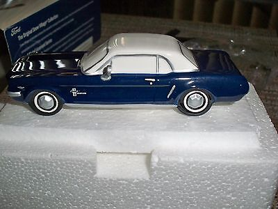 Dept 56 Snow Village 1964 1/2 Ford Mustang Blue                            2917b
