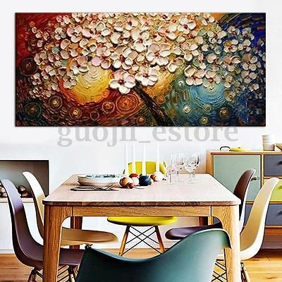 Unframed Hand-painted Flower Tree Canvas Abstract Painting Print Art Wall Decor