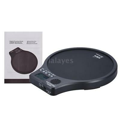 Practice Drum Pad with Metronome / Counting / Speed Detection Mode Black J5J6