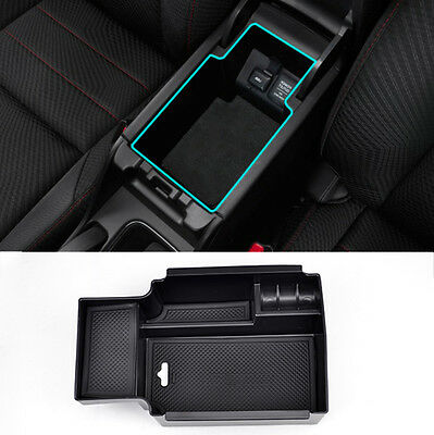 Fit For 2012-2015 Honda Civic Armrest Storage Bin Box Pallet Center Console Tray