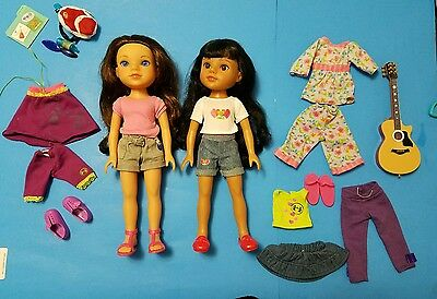 Hearts for Hearts Girls 2 Dolls from Kentucky Clothes Shoes Playmates and more