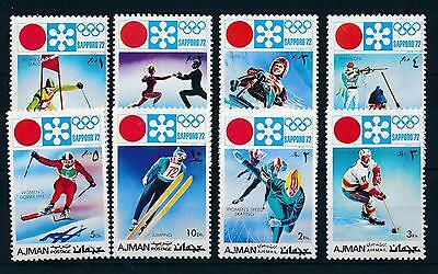 [43008] Ajman 1971 Olympic games Sapporo Winter Skiing Icehockey Luge MNH