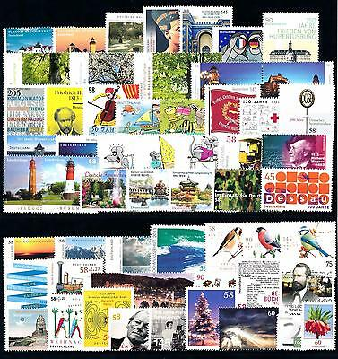 [50181] West Germany Bundespost 2013 Complete Year Set Excl Self Adh stamps MNH