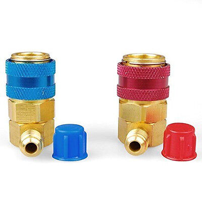 R134a Auto Quick Couplers Bass Adapters Low & High Side AC Manifold Automotive
