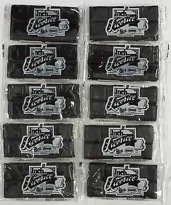 903629 10 x 50g PACKETS OF MELBA'S INCH LICORICE BLOCK - MADE IN AUSTRALIA!