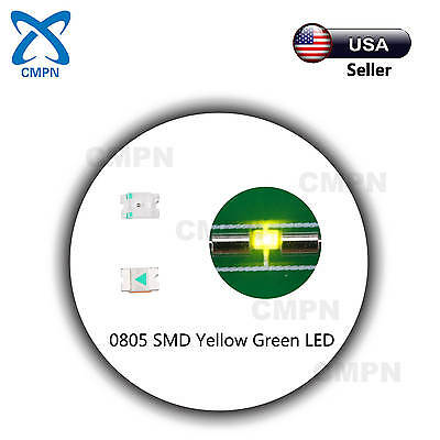 100Pcs 0805 2012 SMD LED Chip SMT Yellow Green Light Lamp Diodes Emitting Beads