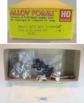 Alloy Forms 1/87 H0 Metal Kit 3137 Mack B70 GW Tractor & Chassis OVP#2409