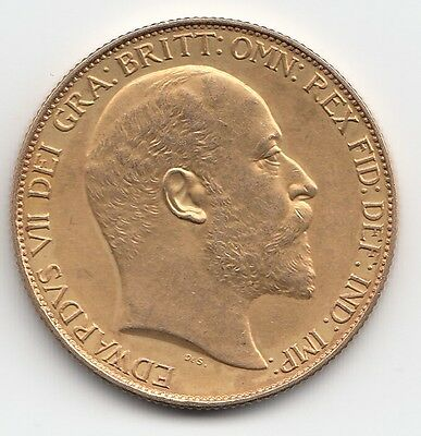 Rare 1902 King Edward Vii Matt Proof Gold Double Sovereign Coin - Two Pound