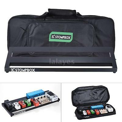 Portable Guitar Effect Pedal Board Pedalboard Aluminum Alloy with Case Box C0T5