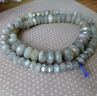 c/a 88 beads Labradorite hand faceted graduated rondelles beads gemstone beads