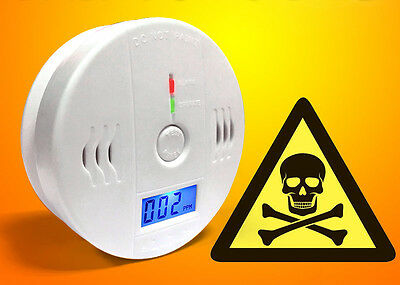 Home Safety Gas Detector CO Sensor Tester LCD Poisoning Alarm