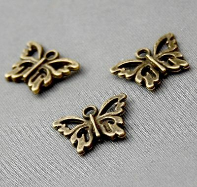 Antique Bronze Charm Mini Butterfly pack of 20
