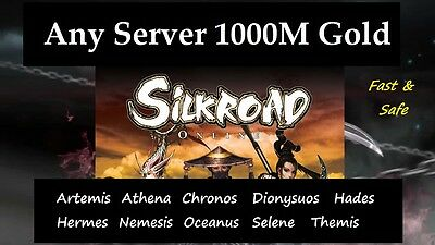 PC Silk Road Online Gold : 1000 M (ANY SERVER ) Hades, Hermes, Artemis etc.
