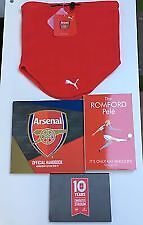 Arsenal '10 Years at the Emirates' Membership pack 2016/2017 BNIB