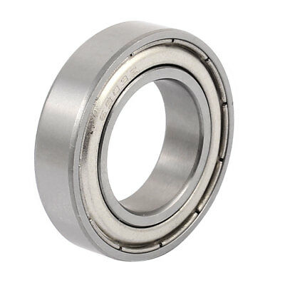 Metal Deep Groove Sealed Shielded Ball Bearing 17mmx30mmx7mm Silver Tone