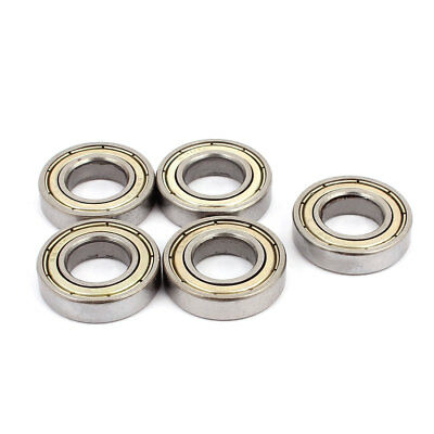 Metal Shielded Sealed Low Speed Deep Groove Ball Bearing 12mmx24mmx6mm 5pcs
