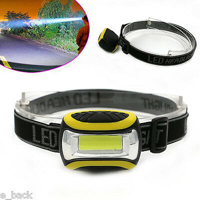 Super Bright Waterproof COB LED 3 Mode Headlamp AAA Outdoor Headlight Torch Lamp