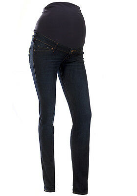 Maternity Over The Bump Skinny Jeans Navy Blue Sizes UK 4 6 8 10 12 14 16 18
