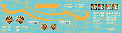 N Scale - NS Operation Awareness (OAR) program car Decal Set
