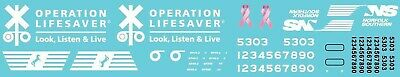 N Scale - Norfolk Southern Operation Lifesaver Unit Decal Set