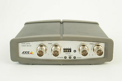 AXIS 241Q Video server 4 channel CCTV Network IP / Serveur / Tested - Updated