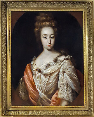 Fine Dutch 17th Century Old Master Portrait of a Lady Antique Oil Painting