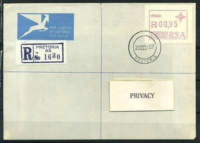 16-11-05337 - South Africa 1987 Mi.  3 FDC 80% ATM