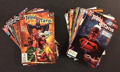 TEEN TITANS #1 - 46 Comic Books FULL RUN Geoff Johns FLASH Superboy DC HEROES