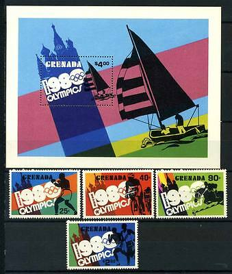 16-11-05201 - Grenada 1980 Mi.  1040-1045 Bl.91 MNH 100% Olympic games Moscow