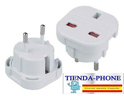 Adaptador Enchufe UK Ingles Reino Unido a Europeo UE Universal  Corriente CONVI