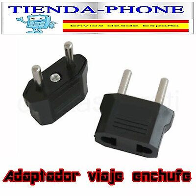 1x ADAPTADOR CORRIENTE PARED CONVERTIDOR ENCHUFE CLAVIJA EUROPEO AMERICANO 6563