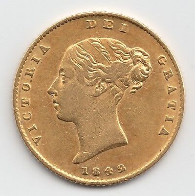 Rare 1842 Queen Victoria Gold Half Sovereign