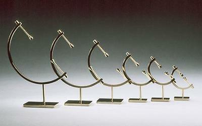 Elegant Brass Caliper Display Stands (museum quality)- great for collectibles