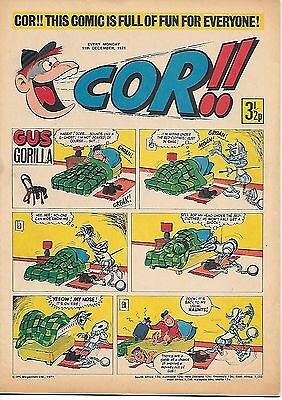 Cor!! 11th Dec 1971 (high grade) Hire a Horror, Kid Chameleon by Joe Colquhoun