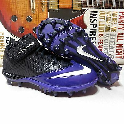 online retailer bfe27 5c59f New Mens Nike Lunar Superbad Pro TD Football Cleats 9 Purple Black  534994-003