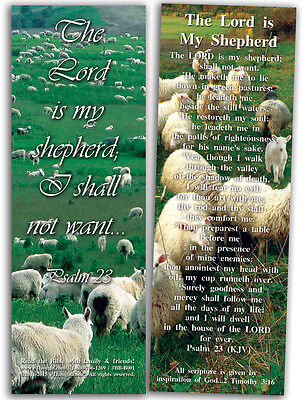 "The Lord Is My Shepherd - Pack of 25 Cards - 2""x6"""