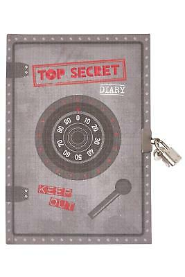 NEW Tiger Tribe Gifts My Diary - Top Secret Grey