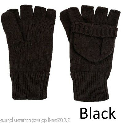 Fingerless Gloves / Mittens Camping Hiking Cold Weather Use Airsoft Paintballing