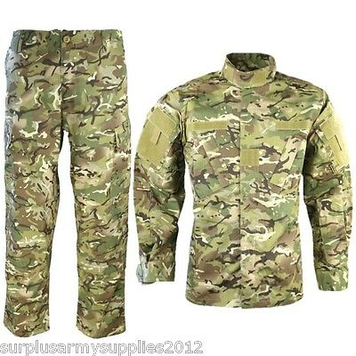 Tactical Ripstop Outfit Trousers & Shirt Btp Camo Workwear Paintballing Airsoft
