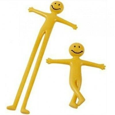 Yellow Stretchy Smiley Men Kids Party Bag Fillers Gift Toys   X1
