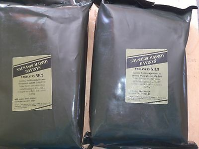 Lithuanian military army dry food ration./MRE 2018/06-07/15 EXP