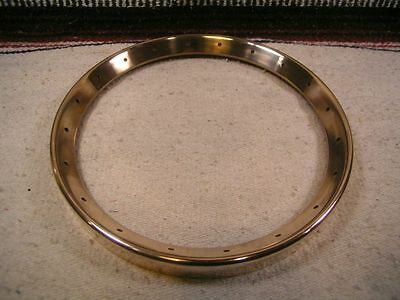 Steve Ryan Bell Brass banjo tonering. 3.01 lb Long skirt. Gold/Bare brass.