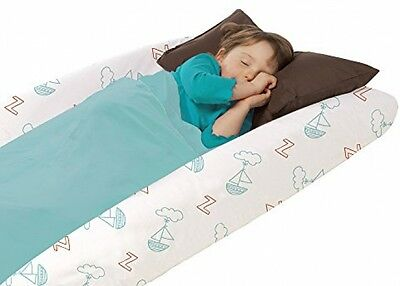 Shrunks Junior Toddler Travel Comfy Perfect Sleepovers Bed with Carrying Bag